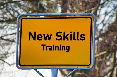 New skills training sign post